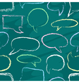 Chalk speech bubbles seamless vector image