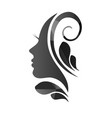 Face of a beautiful woman s profile vector image