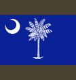 flag of south carolina usa vector image