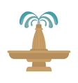 fountain water decoration vector image