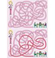 Girl maze vector image