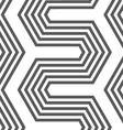 Monochrome hexagonal zigzag vector image