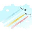 Parade Plane BackgroundJoy Peace Colourful Design vector image