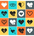 heart icons for wedding and valentines day vector image vector image