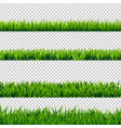 grass border set vector image