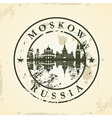 Grunge rubber stamp with Moskow Russia vector image