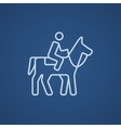 Horse riding line icon vector image