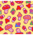 background with mushroom and snails vector image