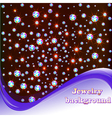 background with shiny precious stones vector image