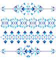 blue oriental border and ornament vector image