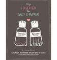 cute salt and pepper wedding invitation card vector image