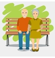 Elderly couple and healthy lifestyle vector image
