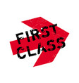 first class rubber stamp vector image