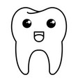 happy tooth character isolated icon vector image