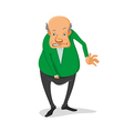 man with his hand in his pants vector image