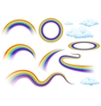 Rainbow and clouds Set of rainbow vector image
