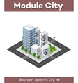 Isometric perspective city vector image