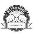 Mix fight combat emblem - clenched fists vector image