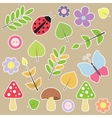 Set of autumn scrapbook elements vector image vector image