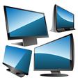 monitors set vector image