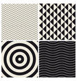 pattern background set retro vector image vector image