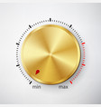 dial knob global swatches realistic gold button vector image
