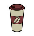 disposable cup coffee beverage icon image vector image