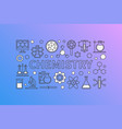 chemistry creative background vector image