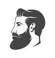 Gentleman head with beard and mustache isolated on vector image