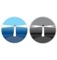 sea lighthouse symbols vector image