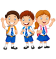 school children vector image