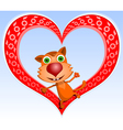 red cat vector image