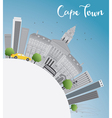 Cape town skyline with grey buildings vector image