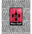 wine card icon logo menu cover vector image