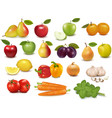 fruits and vegetables set vector image vector image