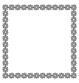 Simple geometric ethnic frame variation 5 vector image vector image