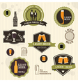 Beer badges and labels in vintage style design vector image