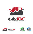 car graph logo automobile trend car statistic vector image