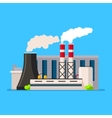 Factory building icon flat style vector image