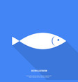 Fish Icon Flat design with shadow vector image
