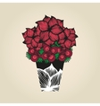 Hand drawn doodle flowers in tattoo style and vector image