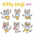 Kitty emoji set 2 vector image