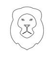 lion head the black color icon vector image