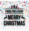 Merry Christmas Letters words on transparent vector image