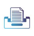 silhouette buciness document file cabinet design vector image