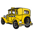 Vintage taxi vector image