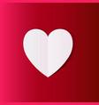 white paper cut love heart love invitation cards vector image