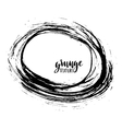 Grunge frame Ink background Hand drawn vector image