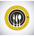 emblem with silverware vector image vector image