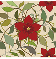 red color flower pattern vector image vector image